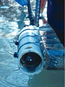 Photo: River turbidity measurement system